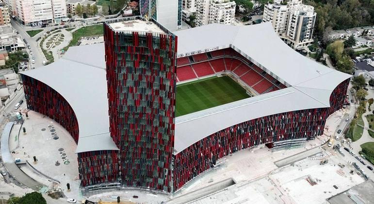 A Arena Kombelare, de Tirana, na Albânia