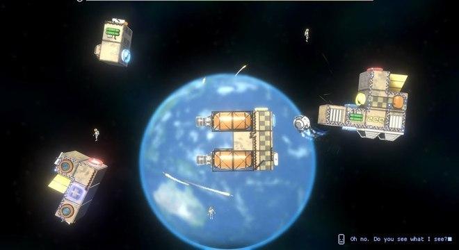 No jogo, você é piloto de um drone e constrói unidades espaciais