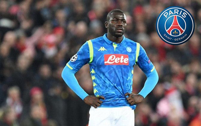 Koulibaly. Posição: Zagueiro. Idade: 28 anos. Clube atual: Napoli. Clube interessado: Paris Saint-Germain.