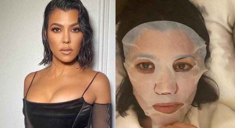 Kourtney Kardashian mostrou seus visuais de 'Instagram versus realidade'
