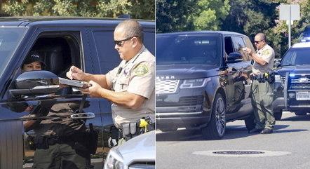 Kourtney recebeu multa de trânsito por dirigir em alta velocidade em Calabasas