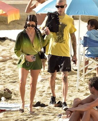 Eles também aproveitaram alguns momentos juntos na praia, em Portofino