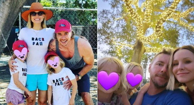 Dax Shepard e Kristen Bell são pais de duas meninas, Lincoln e Delta