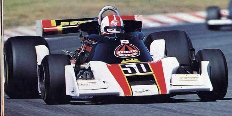Kunimitsu Takahashi representou a Meritsu no GP do Japão de 1977