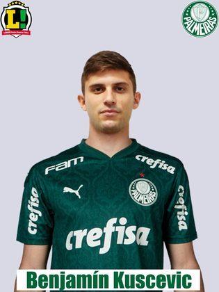 Kuscevic - 4.0 - Apesar de ter dado uma assistência, foi muito mal. Deslocado para a lateral direita por conta das ausências de Marcos Rocha e Gabriel Menino, o chileno perdeu quase todos os duelos contra jogadores do Bragantino. Falhou no terceiro gol do Braga.