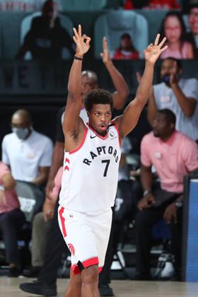 Kyle Lowry (Toronto Raptors) 7,5 - Lowry obteve 16 pontos, sete rebotes e seis assistências, mas o arremesso foi um grande problema. Ele acertou apenas três em 14 tentativas