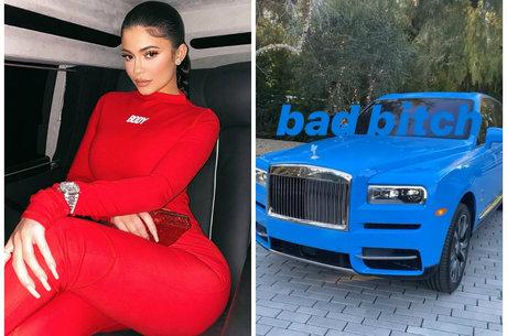 Kylie mostrou detalhes de Rolls Royce Cullinan