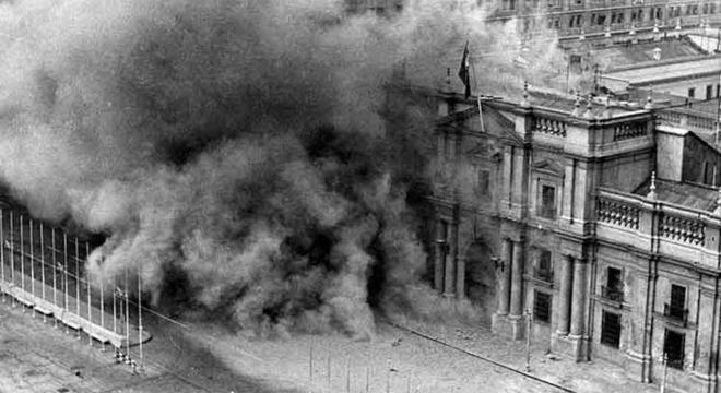 O Palácio foi bombardeado pelas Forças Armadas