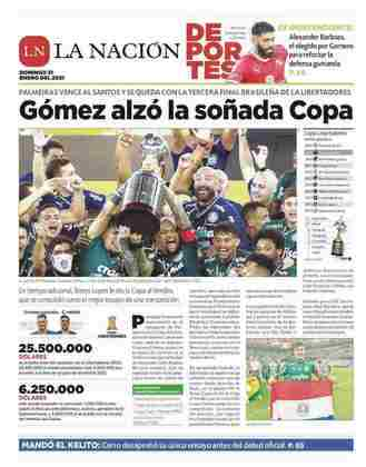 La Nación - Outro jornal paraguaio registrou o título e com destaque ao zagueiro Gustavo Gómez
