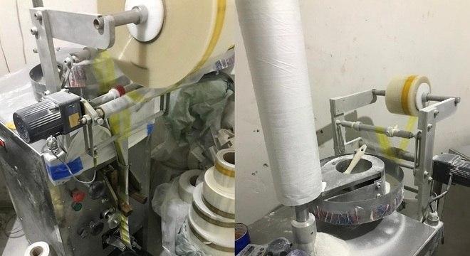 Laboratório de produção automatizada de porções de cocaína