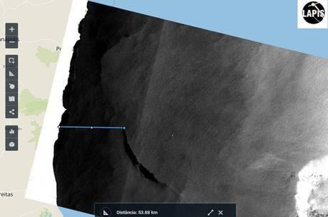 Imagem detectado por satélite