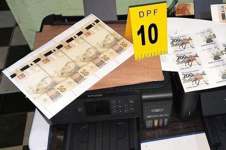 Nota de R$ 200 era falsificada no laboratório