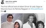 No Twitter, internautas têm feito montagens comparando a caracterização de Lady Gaga e Adam Driver com fotos reais deMaurizio e Patrizia
