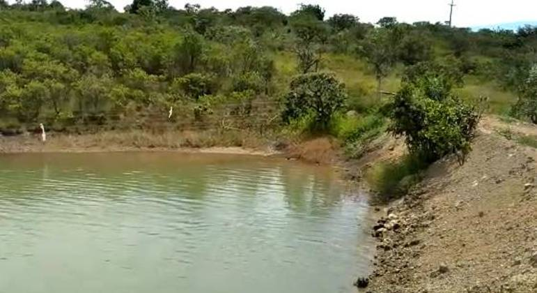 Lago formado a partir de produção de água em propriedade rural do Pipiripau, no DF