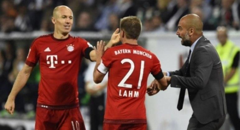 Lahm, Robben e Guardiola - Bayern
