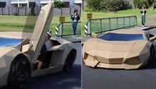 Lamborghini Aventador de papelão é vendida por mais de R$ 55 mil