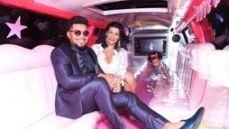 Naldo e Moranguinho chegam juntos em limousine para lançamento de DVD ()