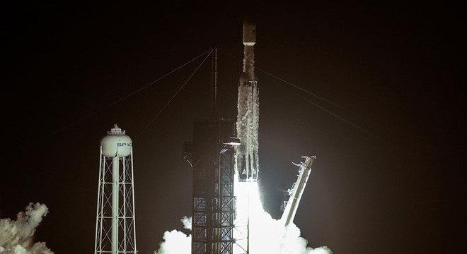 Essa foi a terceira vez que o Falcon Heavy foi enviado ao espaço