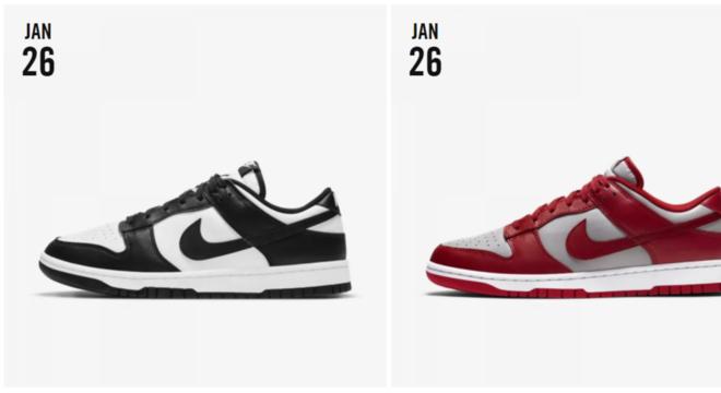 Lançamentos Nike Dunk 2021