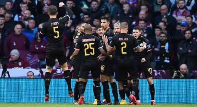 Aguero fez primeiro gol do City na conquista do tricampeonato