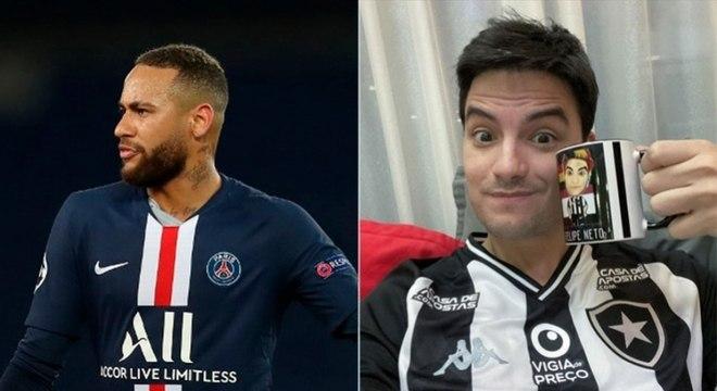 Felipe Neto apaga post sobre falta de posicionamento de Neymar