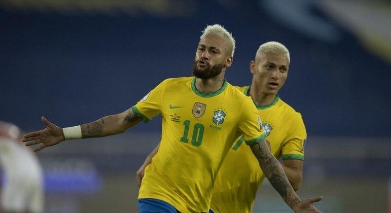 Neymar e Richarlison são as esperanças de gol do Brasil contra o Chile
