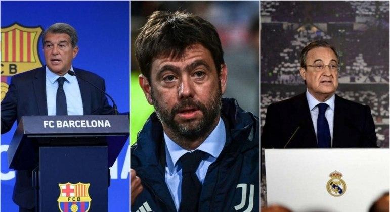 Barcelona, Juventus e Real Madrid ainda querem criar a Superliga