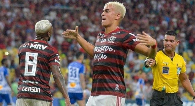 2019 foi o primeiro ano de Reinier no profissional do Flamengo: 15 jogos e seis gols