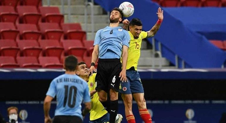 Colômbia e Uruguai fizeram um duelo bastante disputado em Brasília
