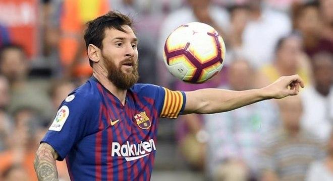 Messi já tem quatro gols no Campeonato Espanhol