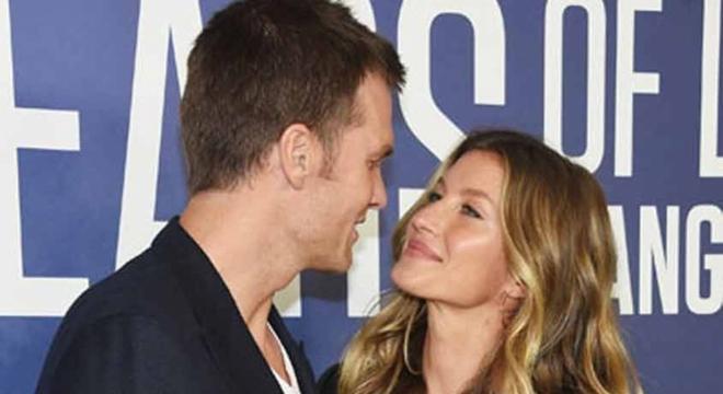 Tom Brady é casado com a brasileira Gisele Bundchen desde 2009