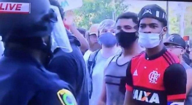 Rubro-negro surpreendeu internautas em manifestação nos EUA