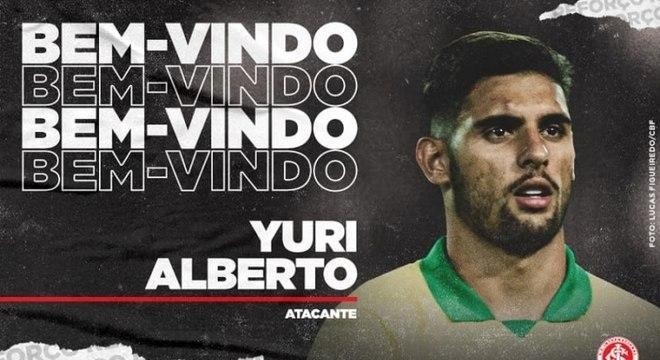 Internacional anunciou a vinda de Yuri Alberto