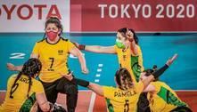 Seleção brasileira feminina de vôlei sentado é medalha de bronze