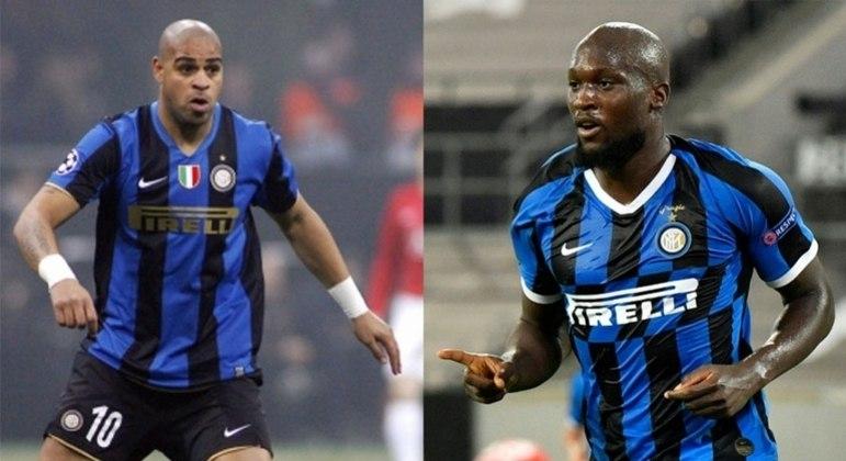 Adriano e Lukaku fizeram história com a camisa da Inter de Milão