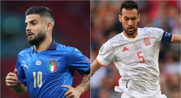 Itália e Espanha duelam por uma vaga na final da Eurocopa