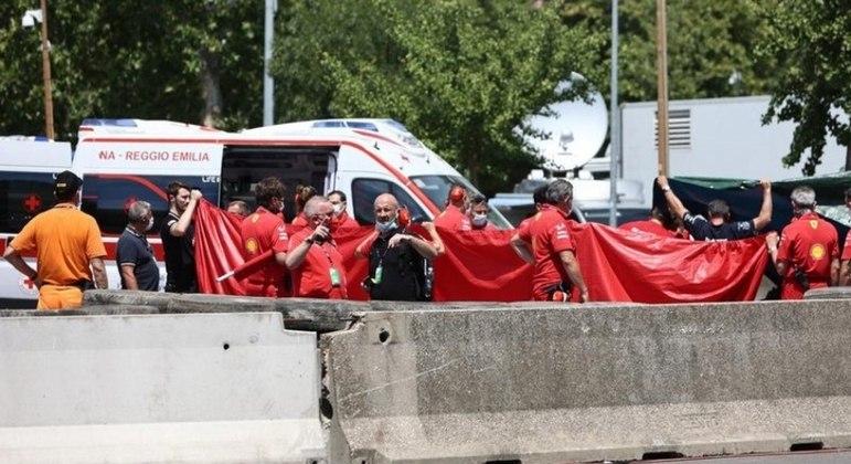 Olivier Beretta atingiu o mecânico durante evento de demonstração