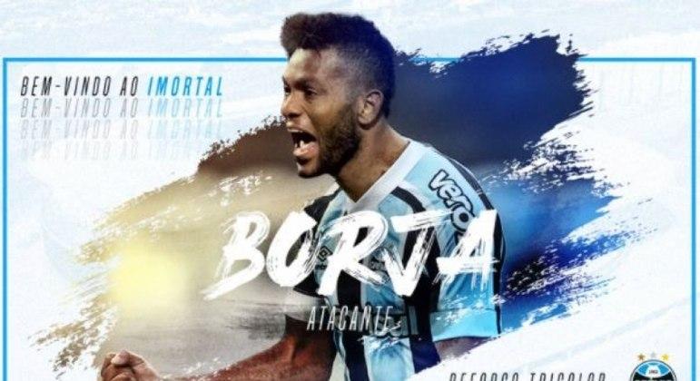 Borja chega ao Grêmio por empréstimo e disputa posição com Diego Souza