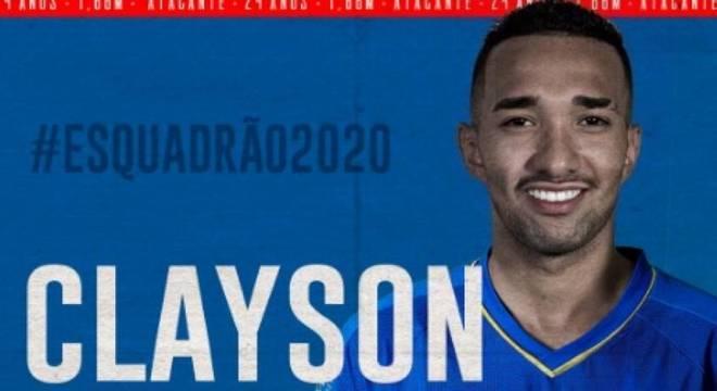 Clayson é a grande contratação do Bahia para a próxima temporada