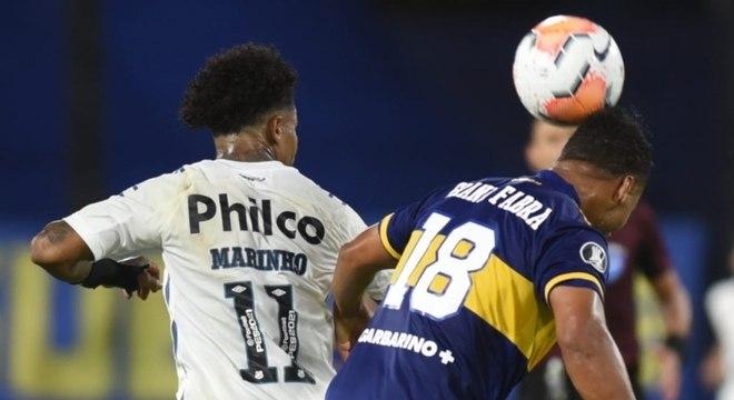 Marinho foi importante para o Santos no duelo com o Boca