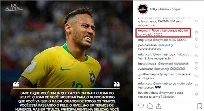 Neymar ironizou Neto após criticas do ex-jogador