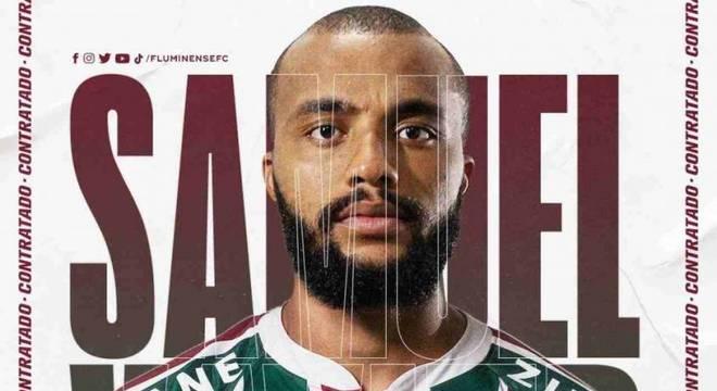 Samuel Xavier foi anunciado como reforço do Fluminense nesta sexta-feira (6)