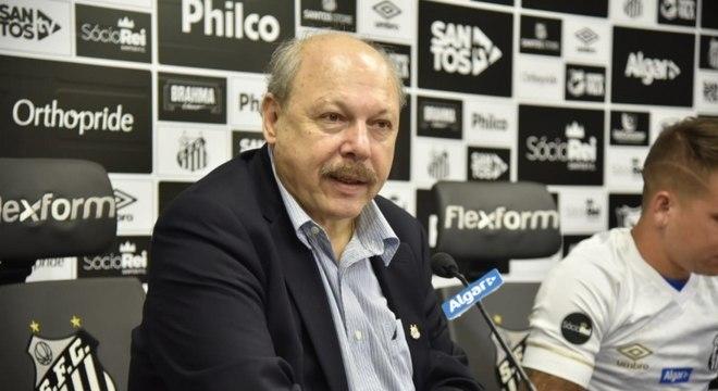 Balanço divulgou superávit de R$ 23,5 mi da gestão de Peres no Santos em 2019