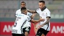 Luan brilha, marca dois, Corinthians bate Huancayo e segue com chance