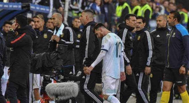 Messi criticou a Conmebol depois da partida de sábado (6)
