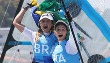 Bicampeãs olímpicas Martine Grael e Kahena Kunze retornam ao Brasil: 'Sensação de dever cumprido'