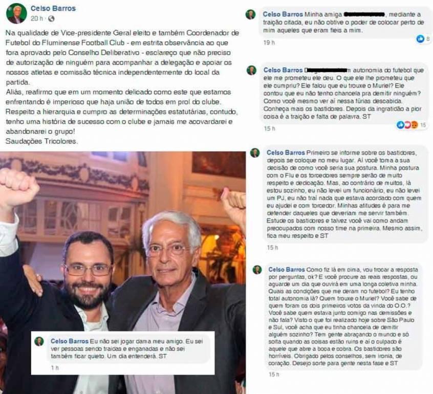 Celso Barros detalhou má relação com Mário Bittencourt