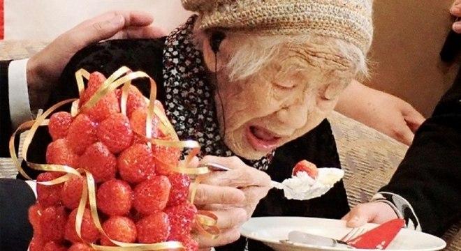 Kane Tanaka terá 118 anos quando for carregar a tocha