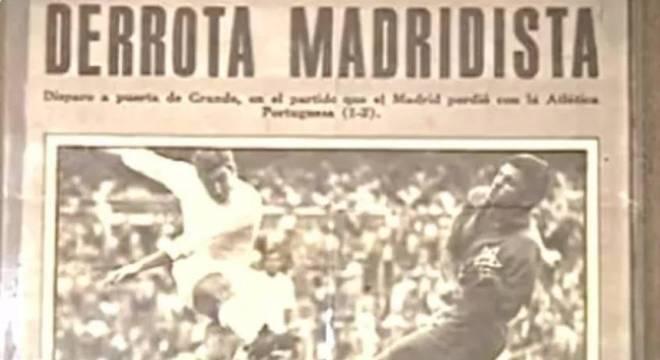 Jornal de Madri na época deu grande destaque para a 'zebra' no Bernabéu