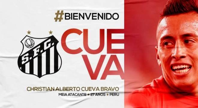24286b5656 Oficial! Santos anuncia contratação do peruano Cueva